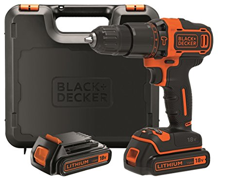 Black+Decker 2-Gang Akku-Schlagbohrschrauber BDCHD18KB –...