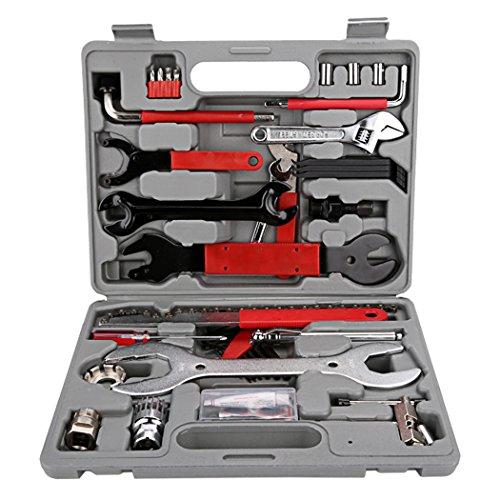 Ancheer Fahrrad Reparaturset Werkzeugkoffer Fahrrad Werkzeug Bike Tool Set Multifunktionswerkzeug,37tlg -